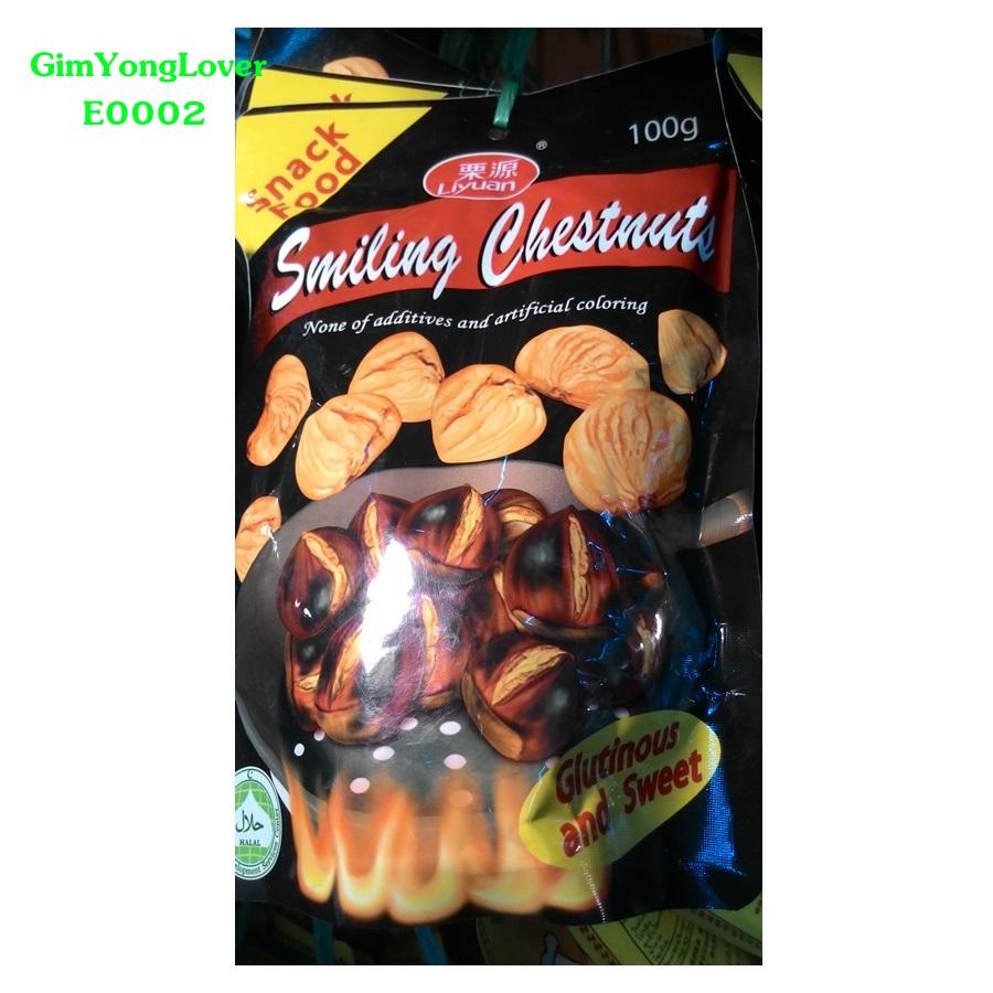 Liyuan เกาลัดจีนมีเปลือก 100 กรัม (Liyuan Smiling Chestnuts)