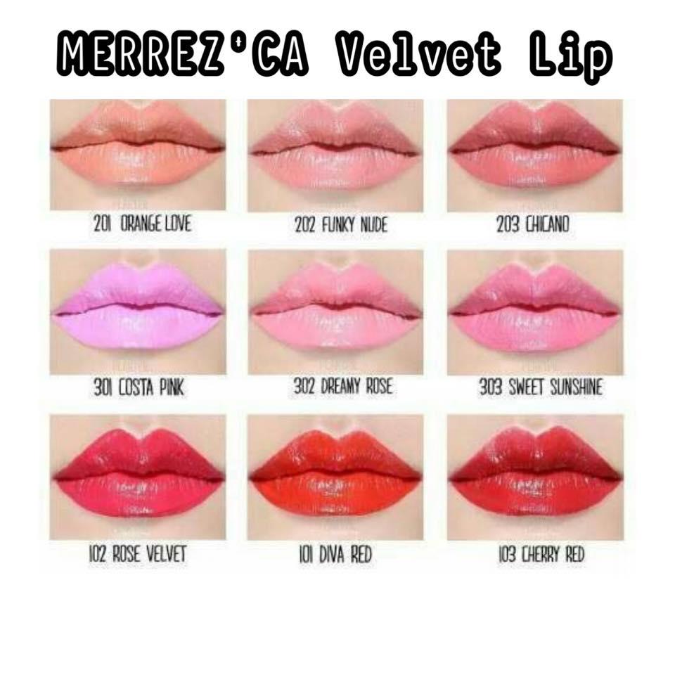 เมอร์เรซกา Speak Velvet Merrezca ลิป สปีค Lip เวลเว็ท