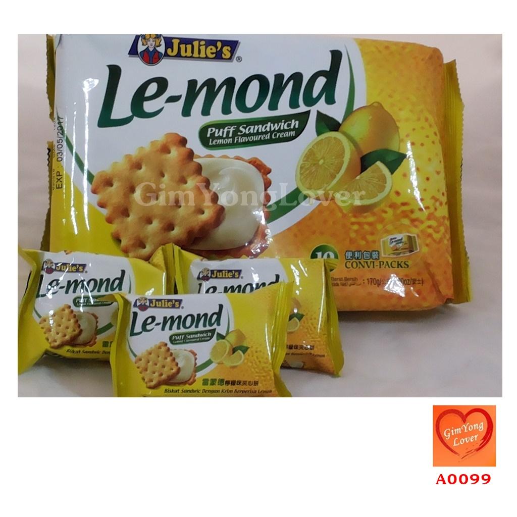 ขนมจูลี่ส์ พัฟแซนวิชไส้ครีมเลมอน (Julies Le-mond Puff Sandwich Lemon Cream)