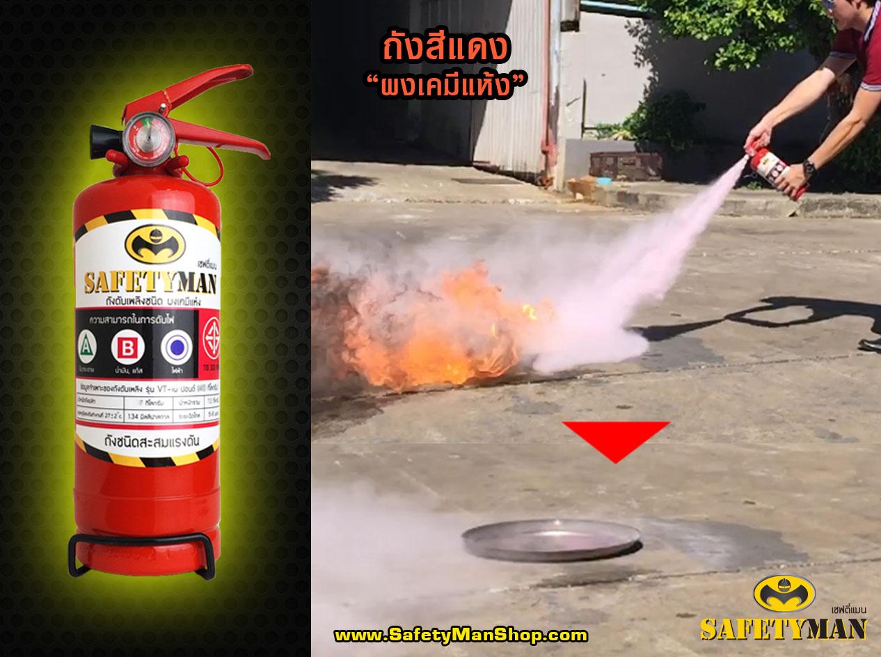 ทดสอบ ถังดับเพลิง ผงเคมีแห้ง