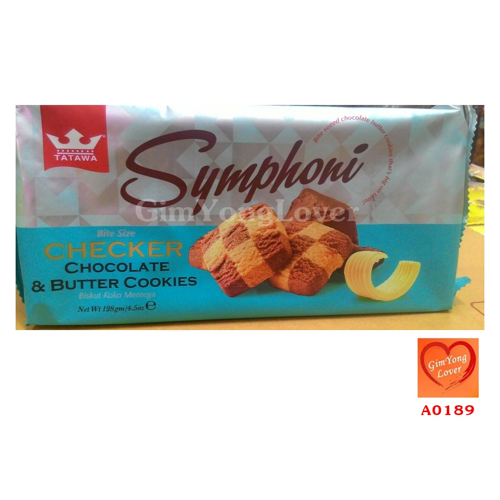 TATAWA Symphoni คุกกี้ช็อคโกแลตและเนย (TATAWA Symphoni Checker Chocolate & Butter Cookies)