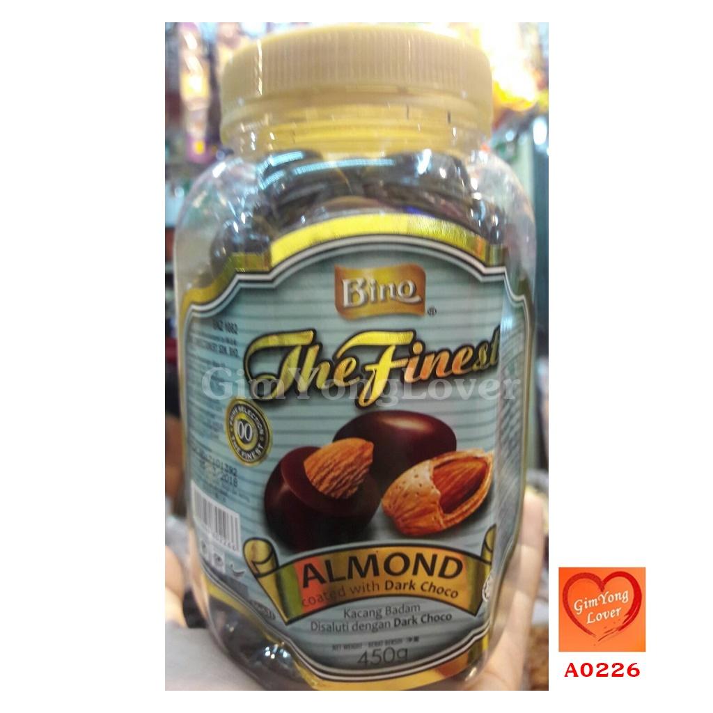 Bino ดาร์กช็อคโกแลต (Bino The Finest Almond Coated with Dark Choco)