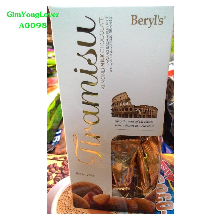 เบริล ช็อคโกแลตนมทีรามิสุ ไส้อัลมอนด์ (Beryl's Tiramisu Almond Milk Chocolate)
