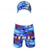 กางเกงว่ายน้ำเด็กชายสีน้ำเงิน ลายปลา (เอวกางเกงมีเชือกผูกปรับได้)