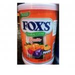 ฟอกซ์ ลูกอมคริสตัลเคลียร์ รสผลไม้รวม (Nestle Fox's Crystal Clear Mix Fruit Flavored Candy Tin)