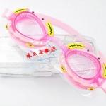 แว่นตาว่ายน้ำเด็ก ลายปู สีชมพู
