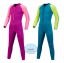 ชุดว่ายน้ำเด็กควบคุมอุณหภูมิ ป้องกันความหนาว / ป้องกันรังสี UV ผลิตจากผ้า Neoprene หนา 2 mm. มี 2 สี---> สีชมพู/สีฟ้า thumbnail 2