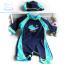 ชุดว่ายน้ำเด็กผู้ชาย Bodysuit ลายปลา สีน้ำเงินฟ้า ซิปหลัง พร้อมหมวก thumbnail 1