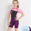 ชุดว่ายน้ำเด็กควบคุมอุณหภูมิ เป็นชุด wetsuit เหมาะกับการใส่ว่ายน้ำหรือดำน้ำ ผลิตจากผ้า Neoprene หนา 2.5 mm. ป้องกันความหนาว / ป้องกันแสงแดด UPF 50+ thumbnail 2