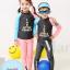 ชุดว่ายน้ำเด็กแขนยาว ขายาว คู่พี่น้อง ใส่ได้ทั้งเด็กชาย และเด็กหญิง (เสื้อ+กางเกงเทาดำ) thumbnail 1