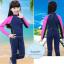 ชุดว่ายน้ำเด็กควบคุมอุณหภูมิ เป็นชุด wetsuit เหมาะกับการใส่ว่ายน้ำหรือดำน้ำ ผลิตจากผ้า Neoprene หนา 2 mm. ป้องกันความหนาว / ป้องกันรังสี UV Ultraviolet Protection UV 100% ** thumbnail 1