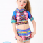 ชุดว่ายน้ำเด็กผู้หญิง รุ่น Colorful เสื้อแขนสั้นเอวลอย กางเกงกระโปรง thumbnail 1