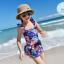 ชุดว่ายน้ำเด็กผู้หญิงวันพีชสีน้ำเงิน ลายดอกไม้ (มีคู่ แม่-ลูก ด้วยค่ะ จะซื้อคู่ หรือซื้อเดี่ยว ก็ได้ค่ะ) thumbnail 2