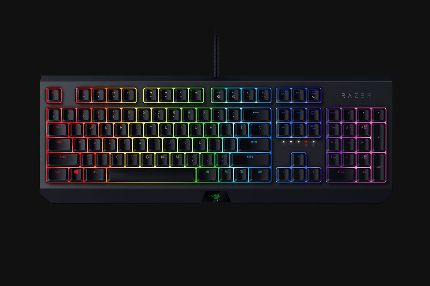 Razer BlackWidow Chroma 2019 Edition Mechanical Gaming Keyboard Green Switches